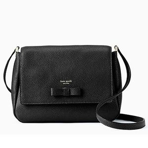 Kate Spade Avva Bag ~ Black Leather with Bow